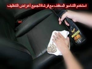 استخدم الشامبو المخفف مع فرشاة لجميع أغراض التنظيف